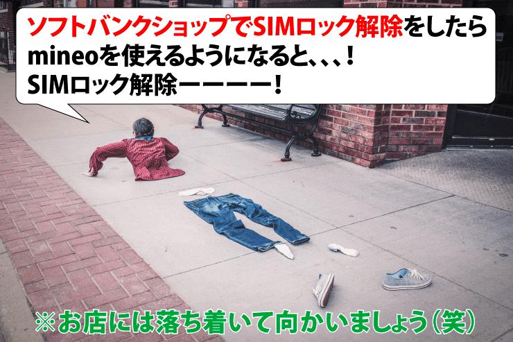【mineo】Softbank(ソフトバンク)からSIMロック解除でマイネオのメイン
