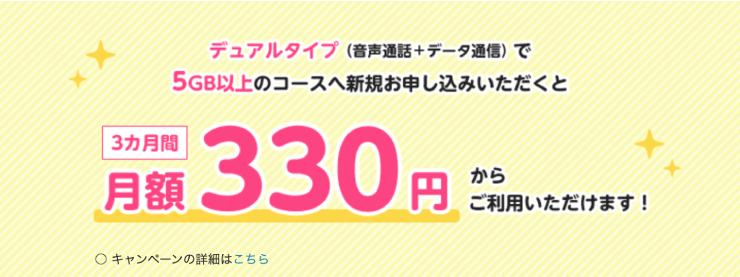 2021年2月のmineo(マイネオ)のキャンペんは月額1080円引きが3ヶ月続く